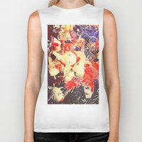koi fish Biker Tanks featuring Koi Fish by Georgiart