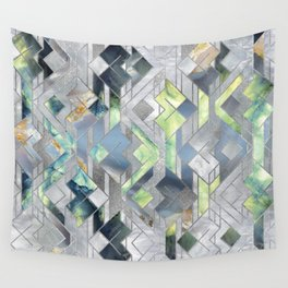 Geometric Translucent Agate and Mother of pearl Wall Tapestry