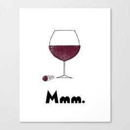 Mmm. Vin Canvas Print