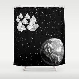 Alien Invaders Shower Curtain