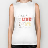 marc Biker Tanks featuring marc jacobs quote by Mandie Kuo