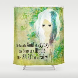 Blue Gypsy, Hippie, Fairy  Shower Curtain