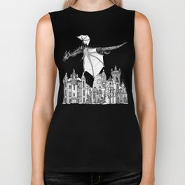 Dragon Kingdom Winter Toile Biker Tank