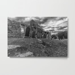 Ruins of the Cill Chriosd Church and Cemetery Metal Print