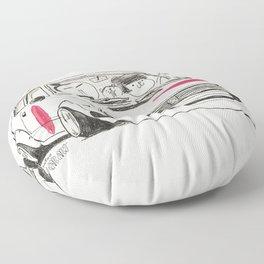 Crazy Car Art 0163 Floor Pillow