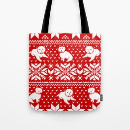 Fair Isle Westies Tote Bag