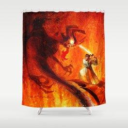 Samurai Jack VS Aku Shower Curtain