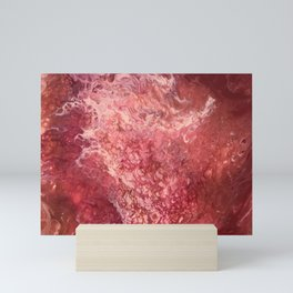 Take My Heart Away - Abstract Fluid Art in Red, Pink, Copper and Maroon Mini Art Print