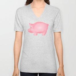 Pink Piggies Unisex V-Neck