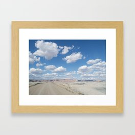 desert clouds Framed Art Print
