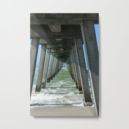 Under The Fishing Pier Metal Print