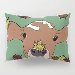 Bessie the Calf and Fall Leaves Pillow Sham
