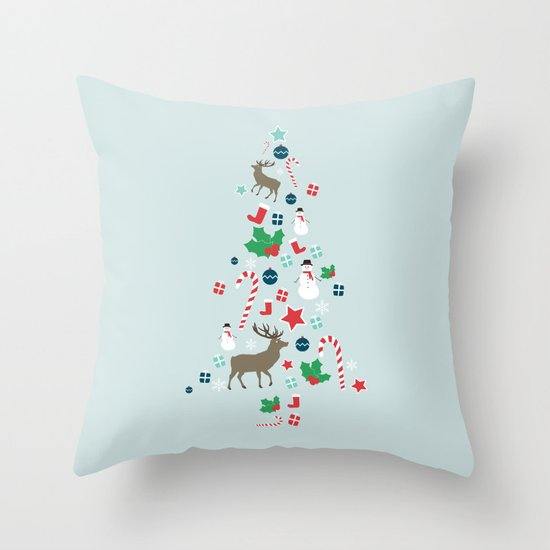 O Christmas Tree Throw Pillow