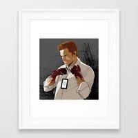 dexter Framed Art Prints featuring Dexter by Elena Casagrande