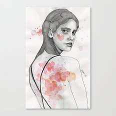 Monday nostalgia, watercolor artwork Canvas Print