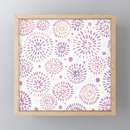 Abstract watercolor sparkles – pastel pink and ultra violet Framed Mini Art Print