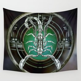 """""""Astrological Mechanism - Scorpio"""" Wall Tapestry"""