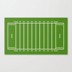 Football Field design Canvas Print