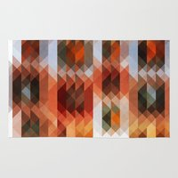 triangle Area & Throw Rugs featuring Triangle by Fine2art