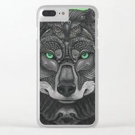 Lobo Verde Clear iPhone Case