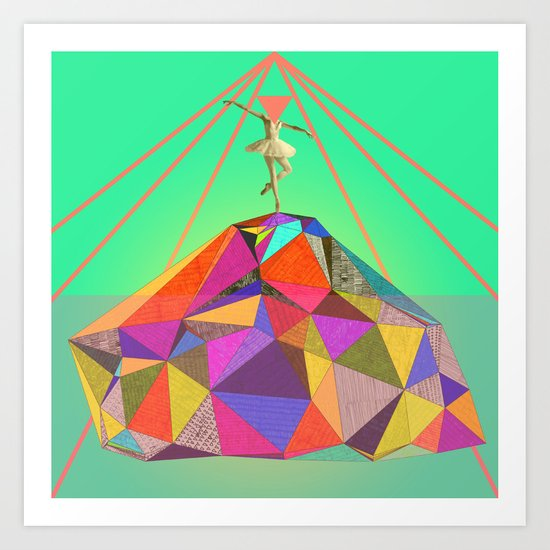 the dancer who could bring colors to the whitest iceberg  Art Print