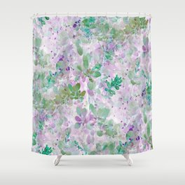 Watercolor Leaves - Seamless IA Shower Curtain