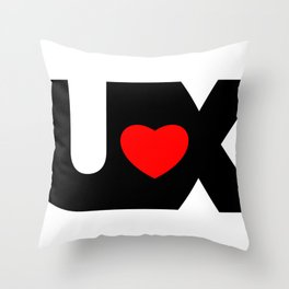 I Love UX Throw Pillow