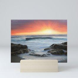 Shelly Beach sunset, Scarborough Mini Art Print