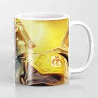 boba fett Mugs featuring Boba Fett by Andre Horton