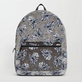 Ornamental Pit Bull - Black and Grey Filigree Pitbull Backpack