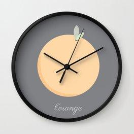 L'orange Wall Clock