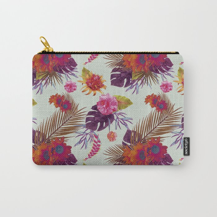 TROPICAL FLORAL PASSION Carry-All Pouch