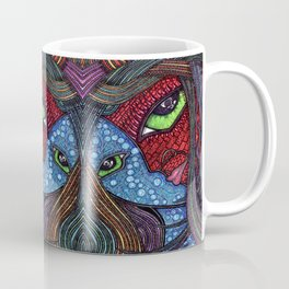 Hot and Cold Green Eyes Coffee Mug