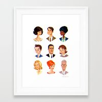 mad Framed Art Prints featuring Mad by Adam Osgood