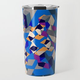 Blue collage Travel Mug