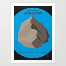 No695 My Armageddon minimal movie poster Art Print