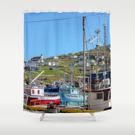 top of the hill Shower Curtain