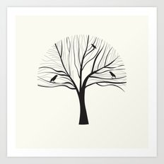 bird tree Art Print