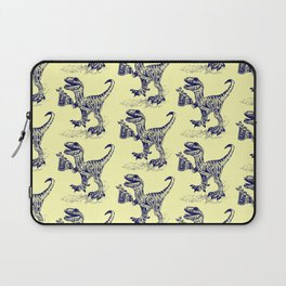Tipsy Velociraptor with Beer Pattern Laptop Sleeve