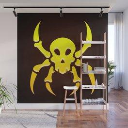 Spider Skull Illustration - Pirate, Hacker Wall Mural