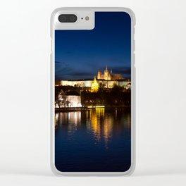 Prague Castle @night Clear iPhone Case