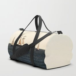 Sailboats in a windy day Duffle Bag