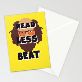 Read Less Beat - Allen Ginsberg Stationery Cards