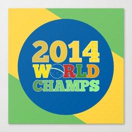 2014 World Champs - Bra Canvas Print