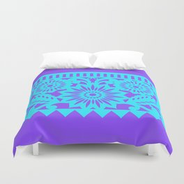 PAPEL PICADO - purple Duvet Cover