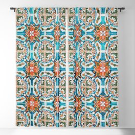 Seamless Floral Pattern Ornamental Tile Design : 1 Blackout Curtain
