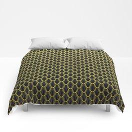 Golden Chain Link Pattern Comforters
