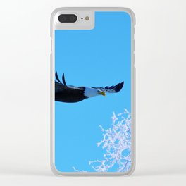 Frosty Flight Clear iPhone Case