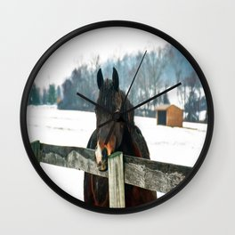 Thoughtful Horse Wall Clock