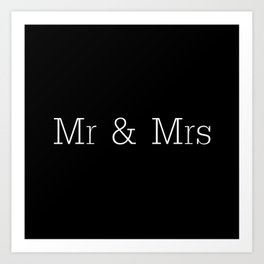 Mr & Mrs Monogram Standard Art Print